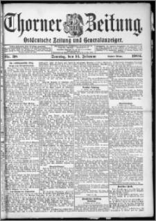 Thorner Zeitung 1904, Nr. 38 Erstes Blatt