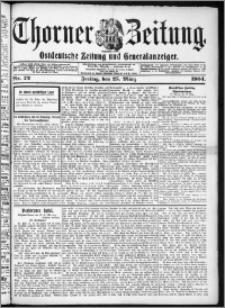Thorner Zeitung 1904, Nr. 72 + Beilage