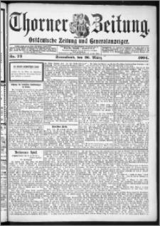 Thorner Zeitung 1904, Nr. 73 + Beilage