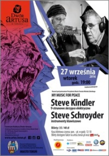 My music for peace : Steve Kindler … : 27 września 2016