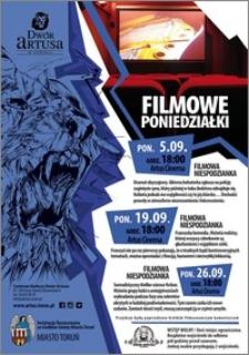 Filmowe poniedziałki : 5.09, 19.09, 26.09