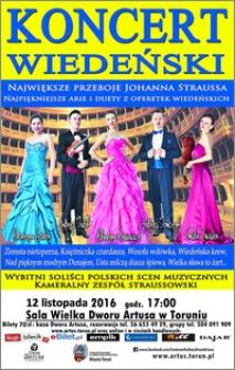 Koncert Wiedeński : największe przeboje Johanna Straussa : 12 listopada 2016
