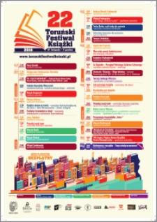 22 Toruński Festiwal Książki 27 listopada-5 grudnia 2016 : program