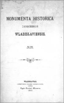 Monumenta Historica Dioeceseos Wladislaviensis T. 19