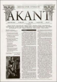Akant : miesięcznik literacki 1998 R.1 nr 1