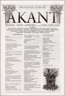 Akant : miesięcznik literacki 1998 R.1 nr 5
