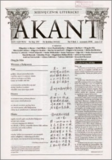 Akant : miesięcznik literacki 1998 R.1 nr 9