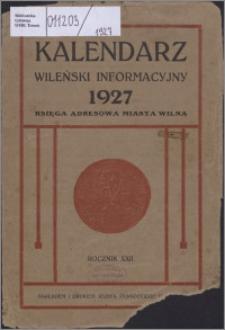 Kalendarz Wileński Informacyjny R. 22 (1927)