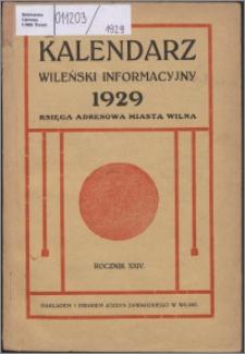 Kalendarz Wileński Informacyjny R. 24 (1929)