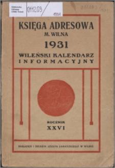 Kalendarz Wileński Informacyjny R. 26 (1931)