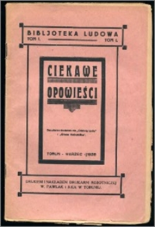 Ciekawe Opowieści T. 1 (marzec 1928)