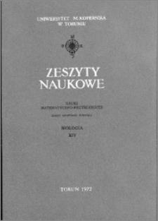 Acta Universitatis Nicolai Copernici. Nauki Matematyczno-Przyrodnicze. Biologia, z. 14 (29), 1971