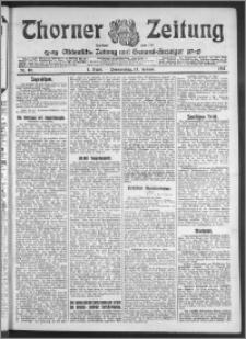 Thorner Zeitung 1911, Nr. 10 1 Blatt