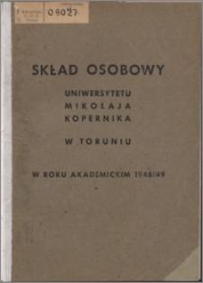 Skład Osobowy Uniwersytetu Mikołaja Kopernika w Toruniu w roku akademickim 1948/1949