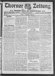 Thorner Zeitung 1911, Nr. 27 1 Blatt