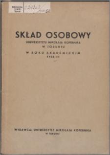 Skład Osobowy Uniwersytetu Mikołaja Kopernika w Toruniu w roku akademickim 1950/1951