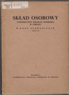 Skład Osobowy Uniwersytetu Mikołaja Kopernika w Toruniu w roku akademickim 1954/1955