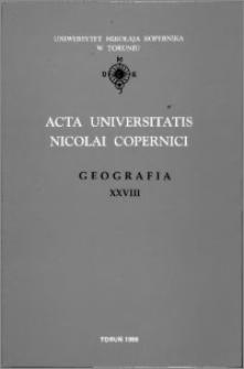 Acta Universitatis Nicolai Copernici. Nauki Matematyczno-Przyrodnicze. Geografia, z. 28 (97), 1996