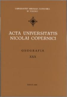 Acta Universitatis Nicolai Copernici. Nauki Matematyczno-Przyrodnicze. Geografia, z. 30 (104), 2000