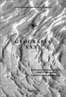 Acta Universitatis Nicolai Copernici. Nauki Matematyczno-Przyrodnicze. Geografia, z. 31 (106), 2000