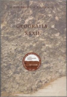 Acta Universitatis Nicolai Copernici. Nauki Matematyczno-Przyrodnicze. Geografia, z. 32 (109), 2002
