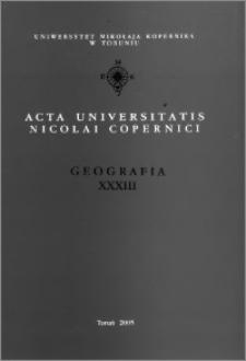 Acta Universitatis Nicolai Copernici. Nauki Matematyczno-Przyrodnicze. Geografia, z. 33 (111), 2005