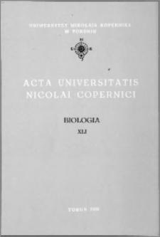 Acta Universitatis Nicolai Copernici. Nauki Matematyczno-Przyrodnicze. Biologia, z. 41 (80), 1992