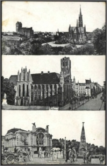Toruń - widoki - [Thorn]: Rathaus, Stadttheater