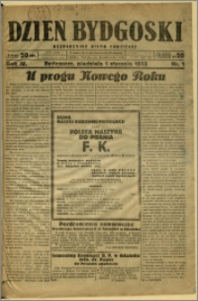 Dzień Bydgoski, 1933, R.4, nr 1