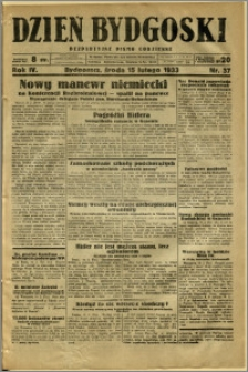 Dzień Bydgoski, 1933, R.4, nr 37