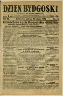 Dzień Bydgoski, 1933, R.4, nr 40