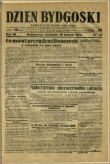 Dzień Bydgoski, 1933, R.4, nr 41