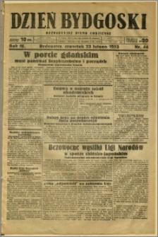 Dzień Bydgoski, 1933, R.4, nr 44