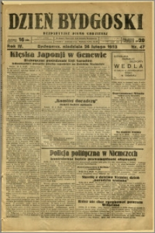Dzień Bydgoski, 1933, R.4, nr 47
