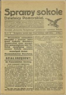 Biuletyn Sokoli Dzielnicy Pomorskiej, 1924, R.1, nr 4