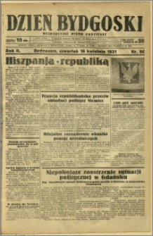 Dzień Bydgoski, 1931, R.2, nr 86