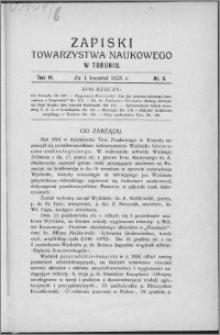 Zapiski Towarzystwa Naukowego w Toruniu, T. 6 nr 9, (1925)
