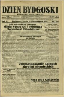 Dzień Bydgoski, 1931, R.2, nr 242