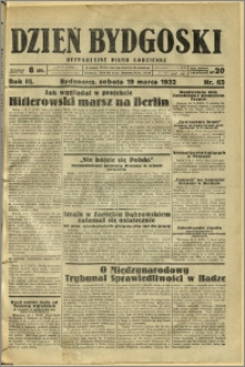 Dzień Bydgoski, 1932, R.3, nr 65