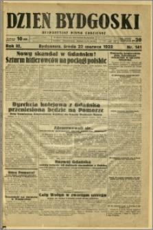 Dzień Bydgoski, 1932, R.3, nr 141