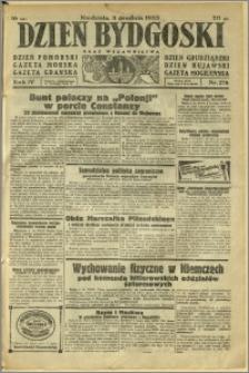 Dzień Bydgoski, 1933, R.4, nr 278