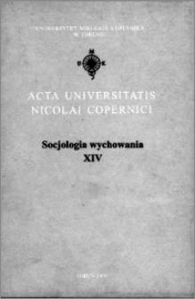 Acta Universitatis Nicolai Copernici. Nauki Humanistyczno-Społeczne. Socjologia Wychowania, z. 14 (339), 2000