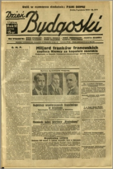 Dzień Bydgoski, 1934, R.6, nr 277