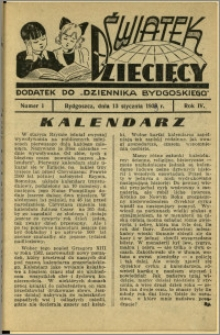 Światek Dziecięcy, 1939, R.4, nr 1