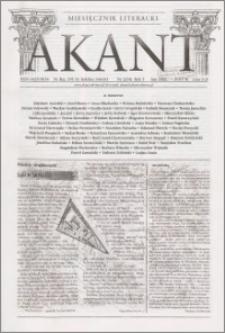 Akant : miesięcznik literacki 2002 R.5 nr 2(54)