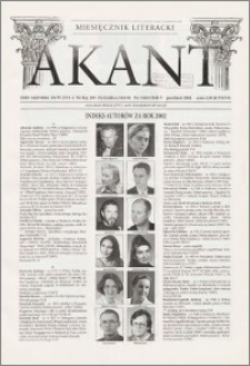 Akant : miesięcznik literacki 2002 R.5 nr 13(65)
