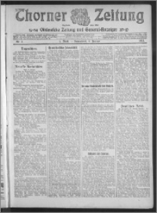 Thorner Zeitung 1913, Nr. 3 1 Blatt