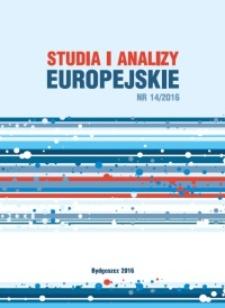 Studia i Analizy Europejskie. Nr 14/2016