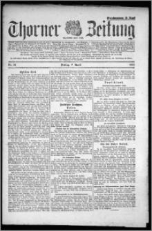 Thorner Zeitung 1922, Nr 81