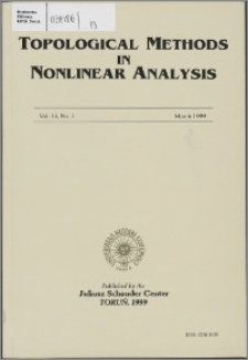 Topological Methods in Nonlinear Analysis, Vol. 13 no 1, (1999)